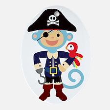 Captain Monkie Hooks Oval Ornament