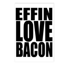 EFFIN LOVE BACON Postcards (Package of 8)