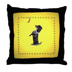 Begging Wirehaired Dachshund Throw Pillow