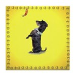 Begging Wirehaired Dachshund Tile Coaster