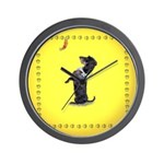 Begging Wirehaired Dachshund Wall Clock
