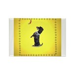 Begging Wirehaired Dachshund Rectangle Magnet (10