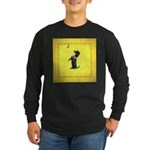 Begging Wirehaired Dachshund Long Sleeve Dark T-Sh