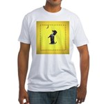 Begging Wirehaired Dachshund Fitted T-Shirt