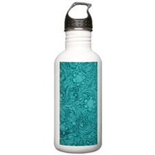 Leather Look Floral Tu Water Bottle