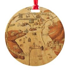 Medieval City Map Ornament