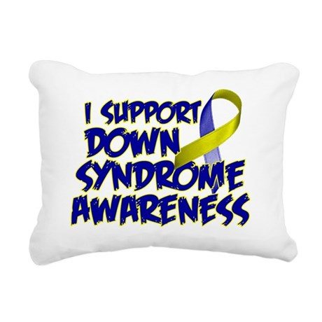 Down Syndrome Awareness Rectangular Canvas Pillow