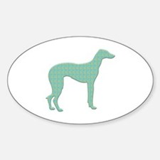 Paisley Sloughi Oval Decal