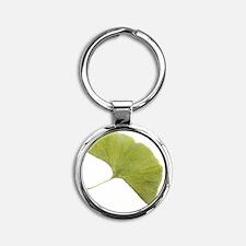 Maidenhair leaf (Ginkgo biloba) Round Keychain