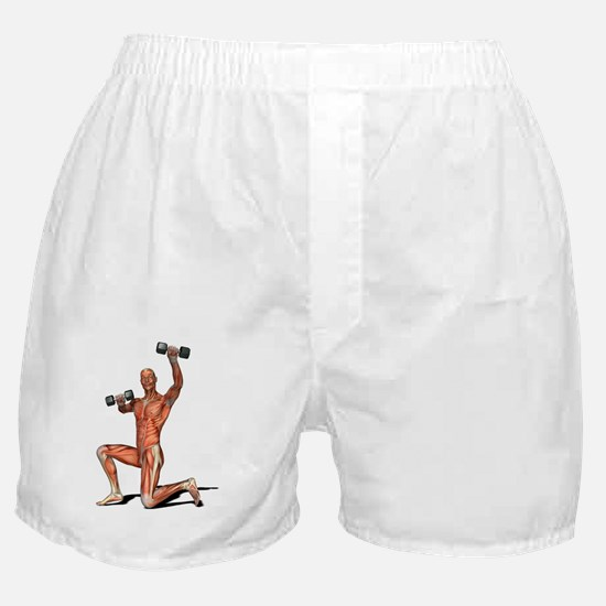 Male muscles, artwork Boxer Shorts