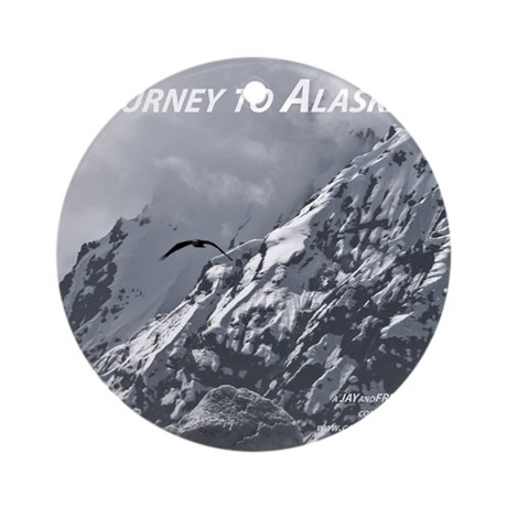 Joourney to Alaska Round Ornament