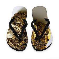 Iron pyrite Flip Flops