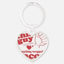 Guy Hearts Bacon Heart Keychain