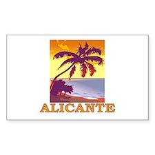 Alicante, Spain Rectangle Decal