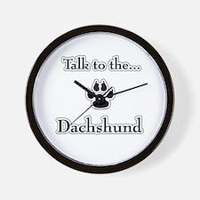 Dachshund Talk Wall Clock