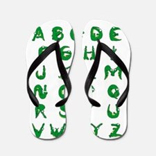 Alligator Alphabet Flip Flops