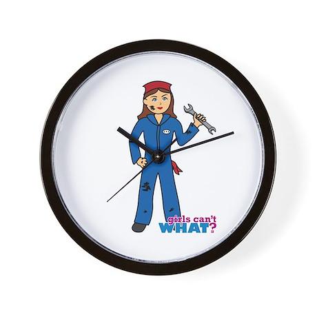 Mechanic Girl Wall Clock
