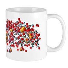 Insulin molecule, computer artwork Mug