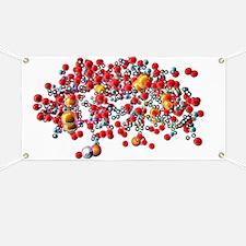 Insulin molecule, computer artwork Banner