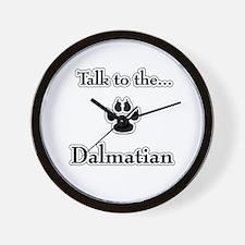 Dalmatian Talk Wall Clock