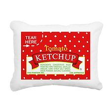 Tomato Ketchup Rectangular Canvas Pillow