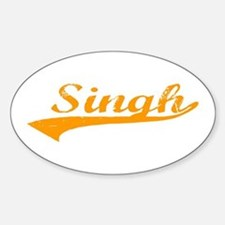 Singh Oval Decal