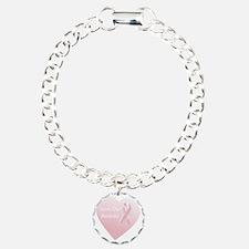 Save Our Boobies White Charm Bracelet, One Charm
