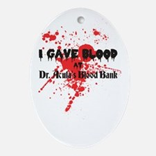 Blood Donor Oval Ornament