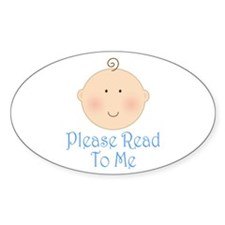 Baby Read Aloud Book Oval Decal