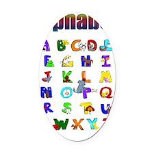 Colorful Alphabet Oval Car Magnet