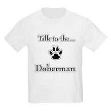 Doberman Talk Kids T-Shirt