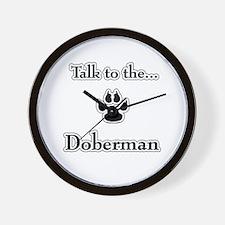Doberman Talk Wall Clock