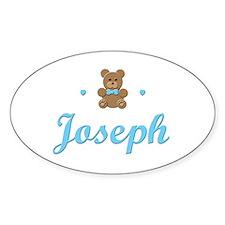 Teddy Bear - Joseph Oval Decal