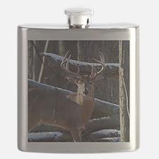 Trophy Whitetail Deer D1342-029 Flask