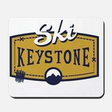 Ski Keystone Patch Mousepad