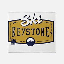 Ski Keystone Patch Throw Blanket