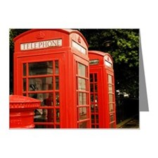 British red telephone boxes  Note Cards (Pk of 10)