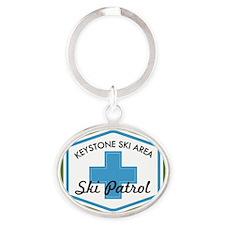 Keystone Ski Patrol Badge Oval Keychain