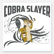 "Cobra Slayer Square Car Magnet 3"" x 3"""