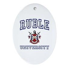 RUBLE University Oval Ornament