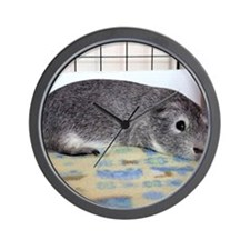 Sleeping Guinea Pig Wall Clock