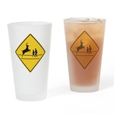 School & Deer Crossing Drinking Glass