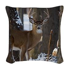 Trophy Whitetail D1316-014 Woven Throw Pillow