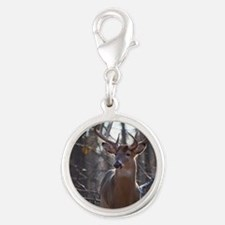 Dominant Buck D1342-025 Silver Round Charm