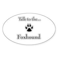 English Fox Talk Oval Decal