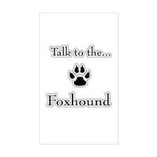 English Fox Talk Rectangle Decal