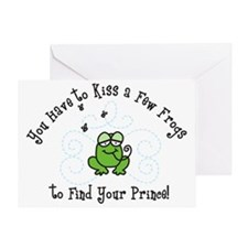 Kiss A Few Frogs Greeting Card
