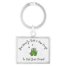 Kiss A Few Frogs Landscape Keychain