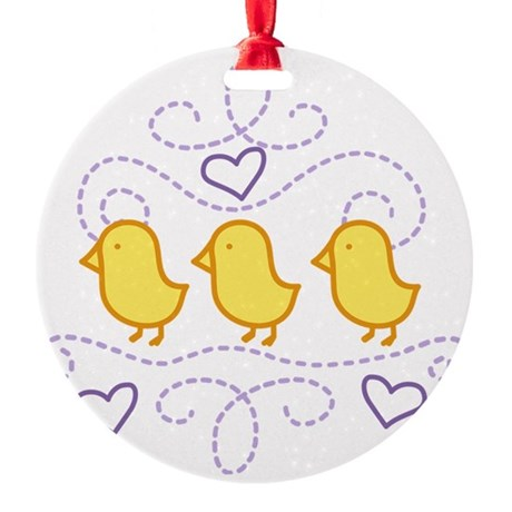 Chickens Round Ornament
