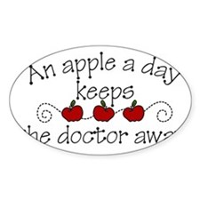 An Apple A Day Decal